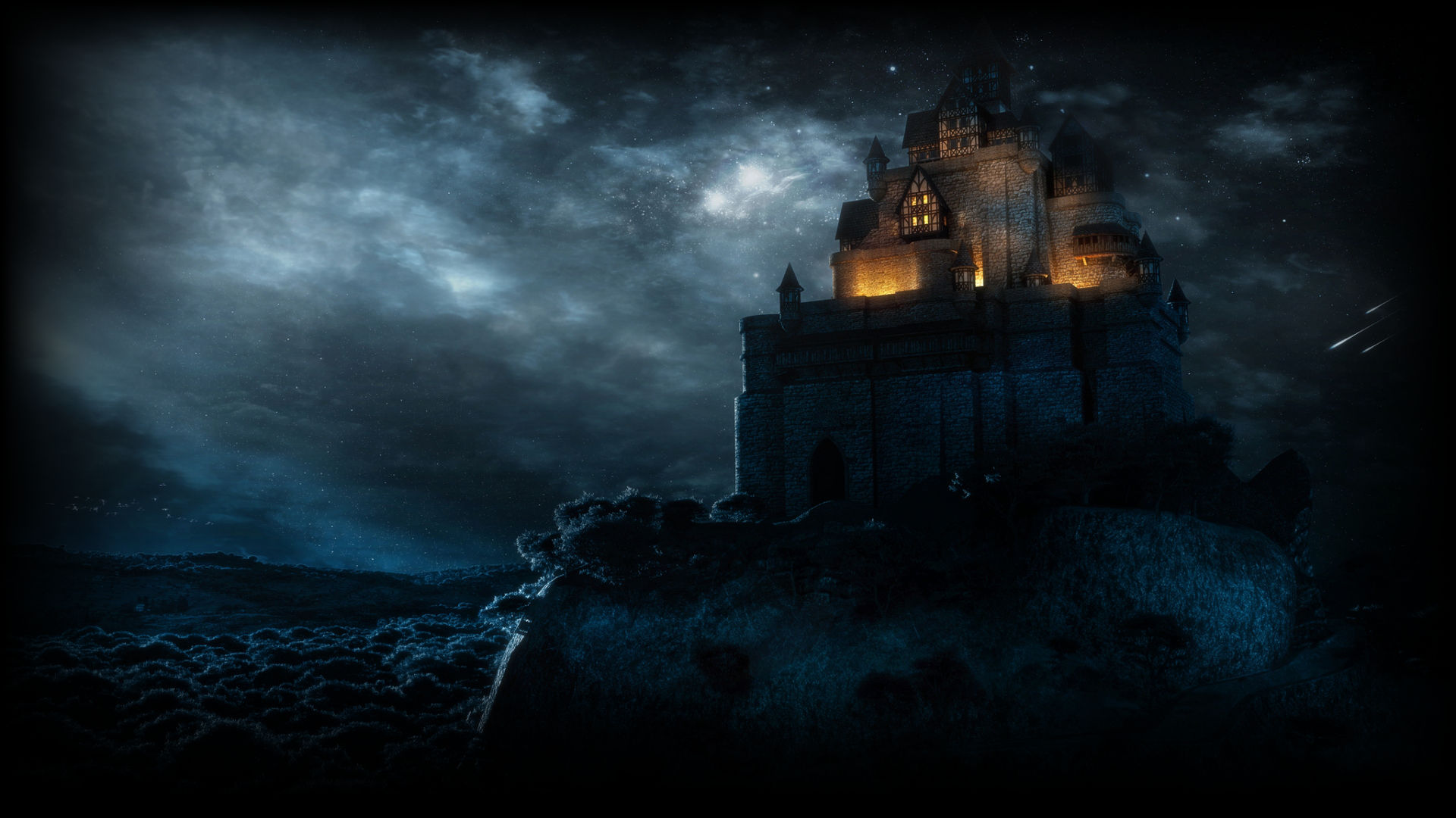 fantasy castles with dragons