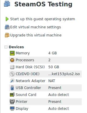 Steam Community :: Guide :: [SteamOS] Installation on VMware Workstation