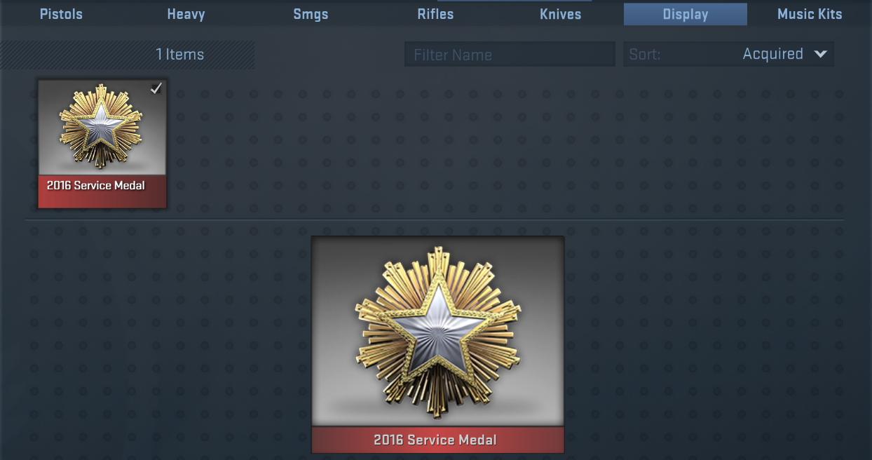 Steam Community :: Guide :: Service Medal (how it works