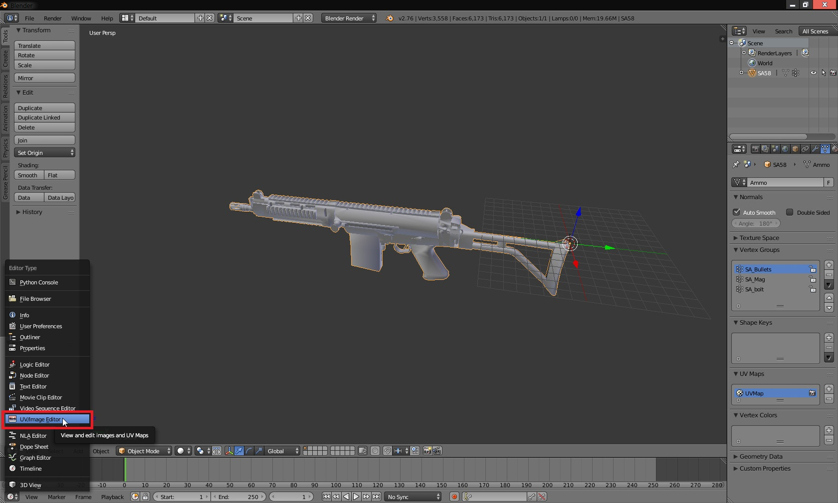 Steam community guide insurgency weapon modding tutorial so youve got your new model in blender baditri Image collections