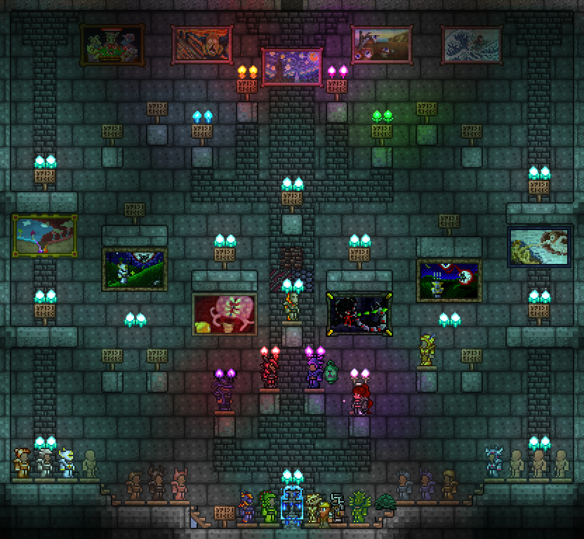 A snapshot of a portion of my trophy room. All the signs are armors that are unobtainable due to not being in Hardmode the empty manniquins are armors I am ...  sc 1 st  Steam Community & Steam Community :: Guide :: Lordu0027s Guide to Terraria Survival: The ...
