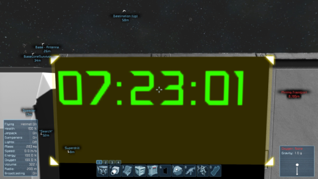 Ingame Clock on LCD Panel