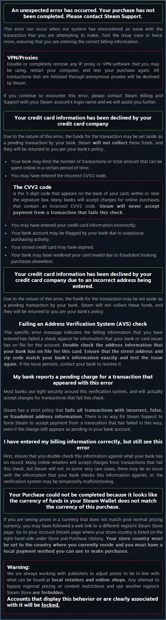 Steam Community :: Guide :: Steam FAQ