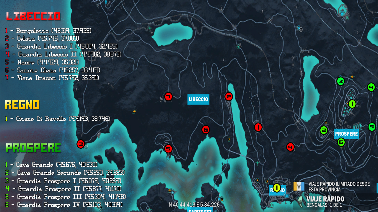 Steam Community Guide Jc3 Settlements Location To Liberate Medici