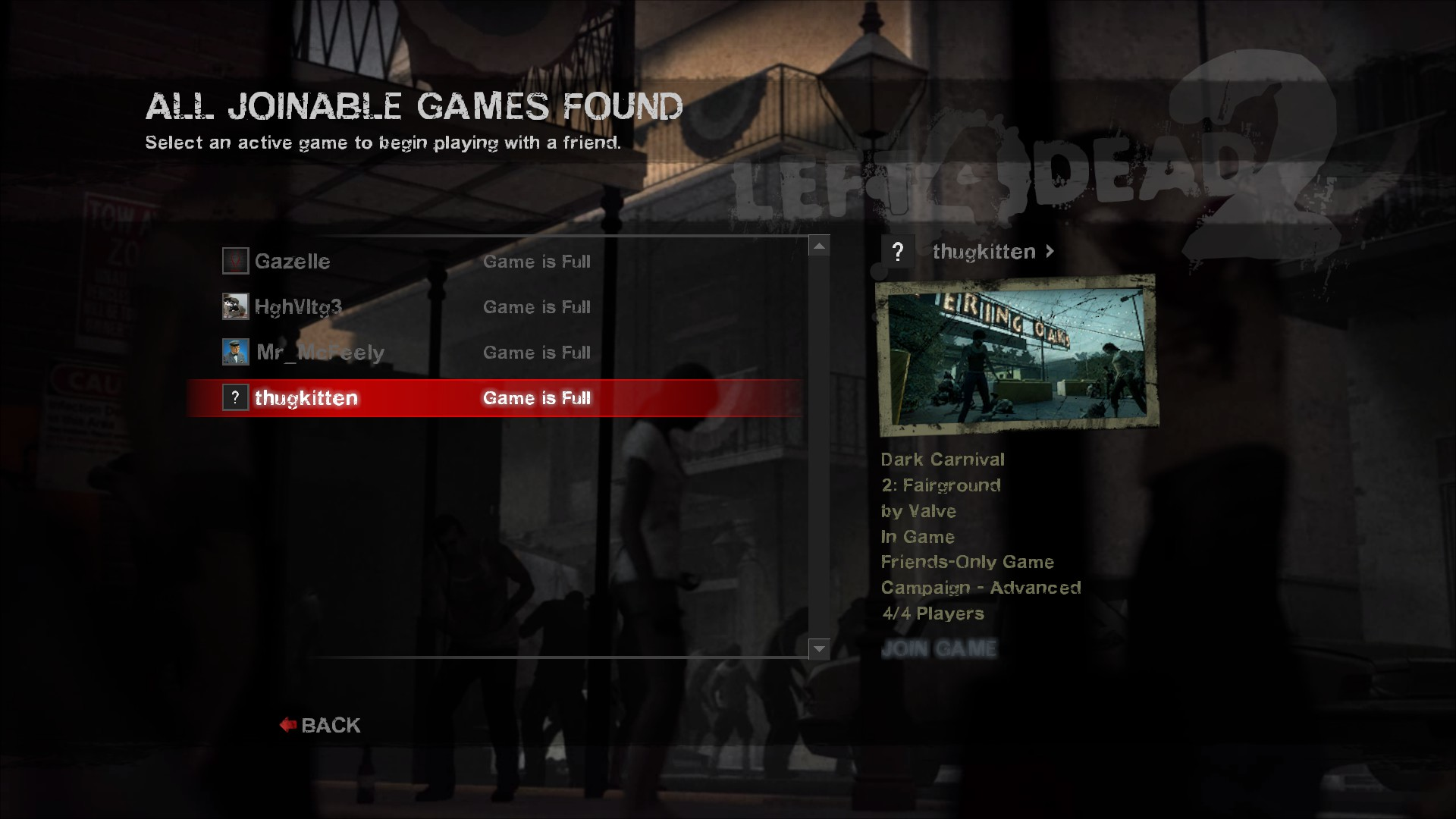 Left for dead 2 not in joinable game the incredibles 2 download games