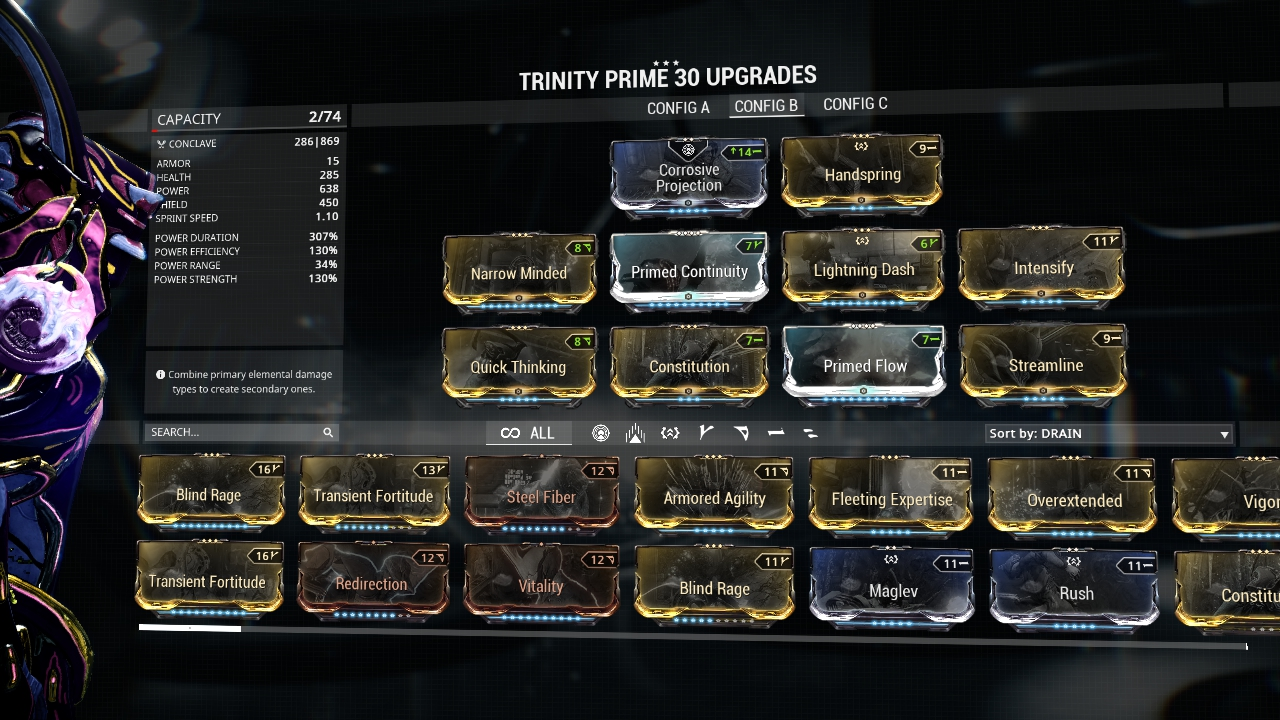 Warframe Bless Trinity Build
