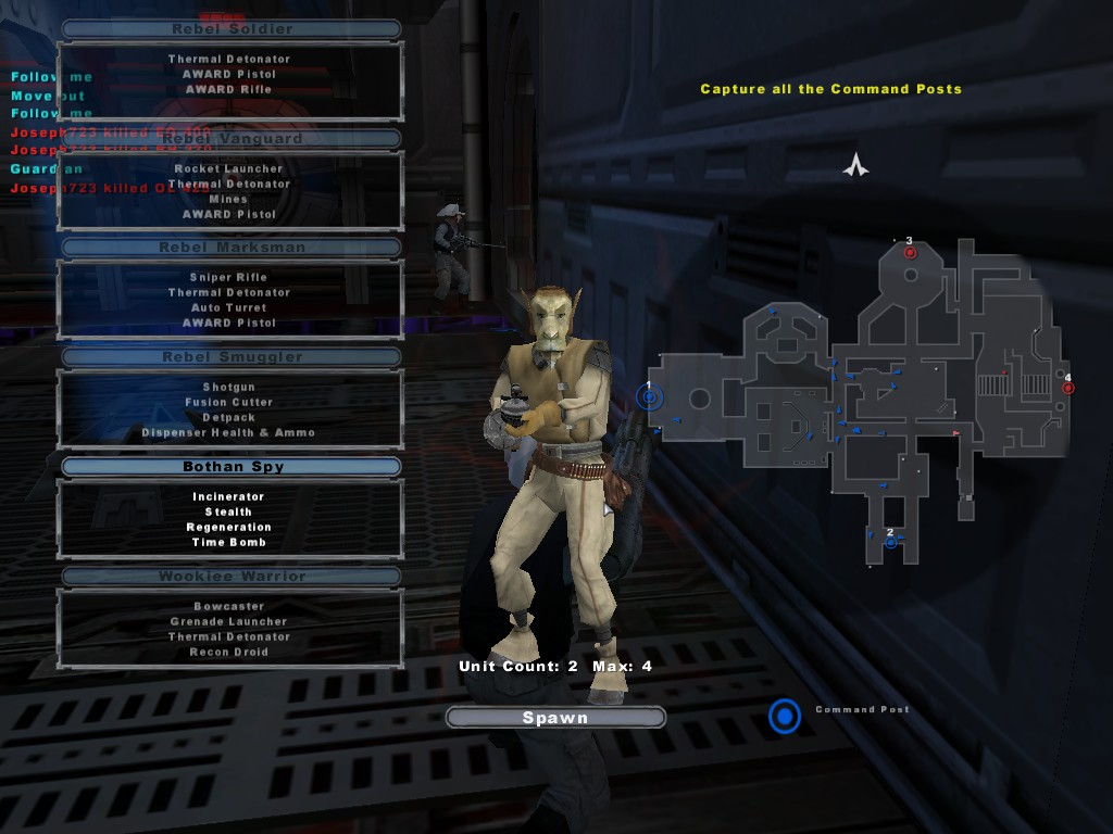 Wookie Warrior The Toughest Class In Game Is Equipped With A Bow Caster And Grenade Launcher He Also Has Recon Droid Thermal Detonators