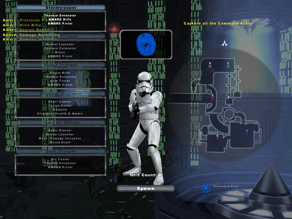 The Classes Are Listed On Left Of Respawn Menu Right Is Map Where You Can Select A Command Post