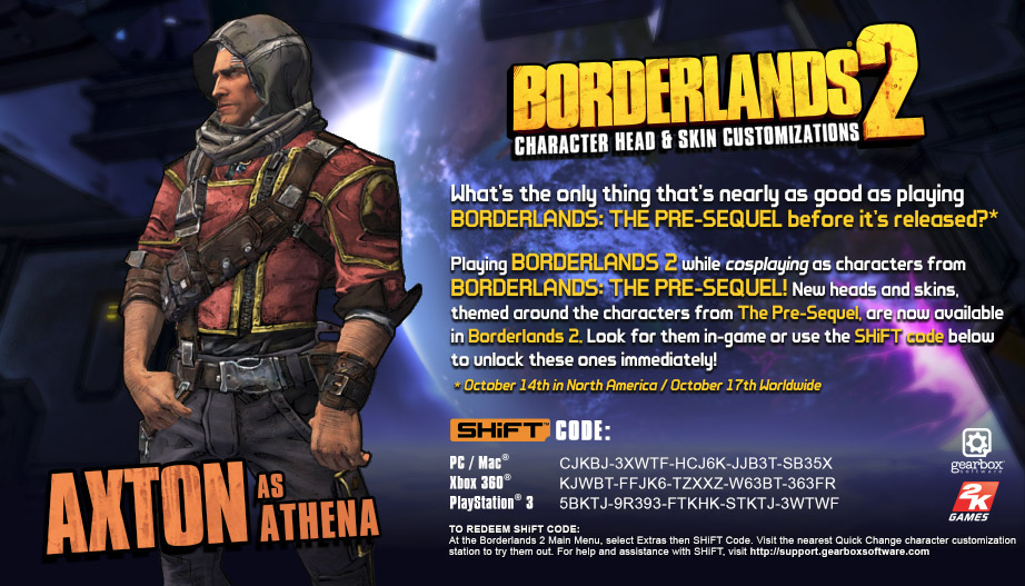 45b033049 Steam Community    Guide    Borderlands 2 Pre-Sequel SHiFT Codes