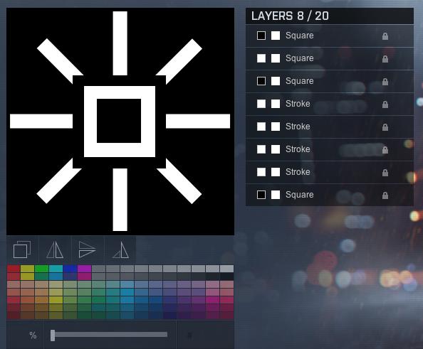 Comunidade Steam :: :: EZIC Star - BF4 emblem editor