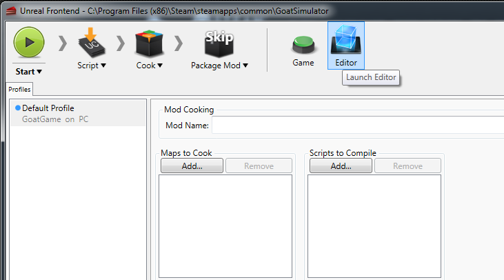 First, Go To Your Steam Library And Filter It By Tools. If You Havenu0027t  Already, Download The Goat Simulator Development Kit And Start It Up.