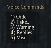 Voice Command Menu