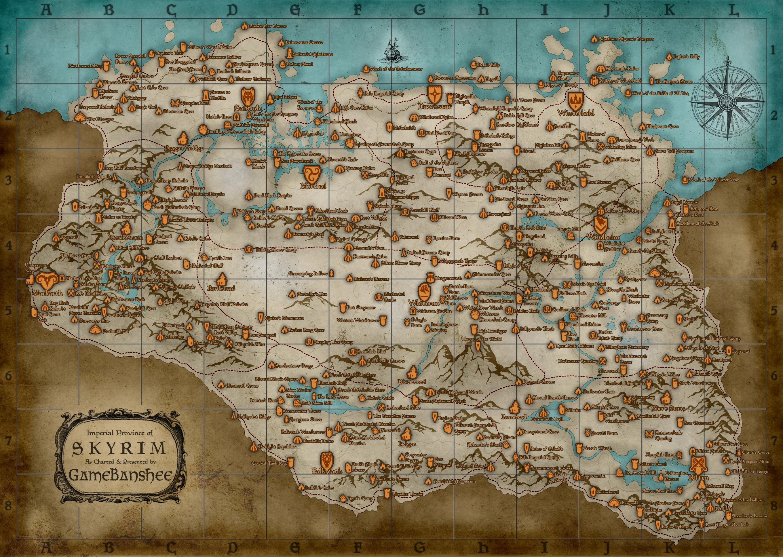 Steam Community Map Of Skyrim