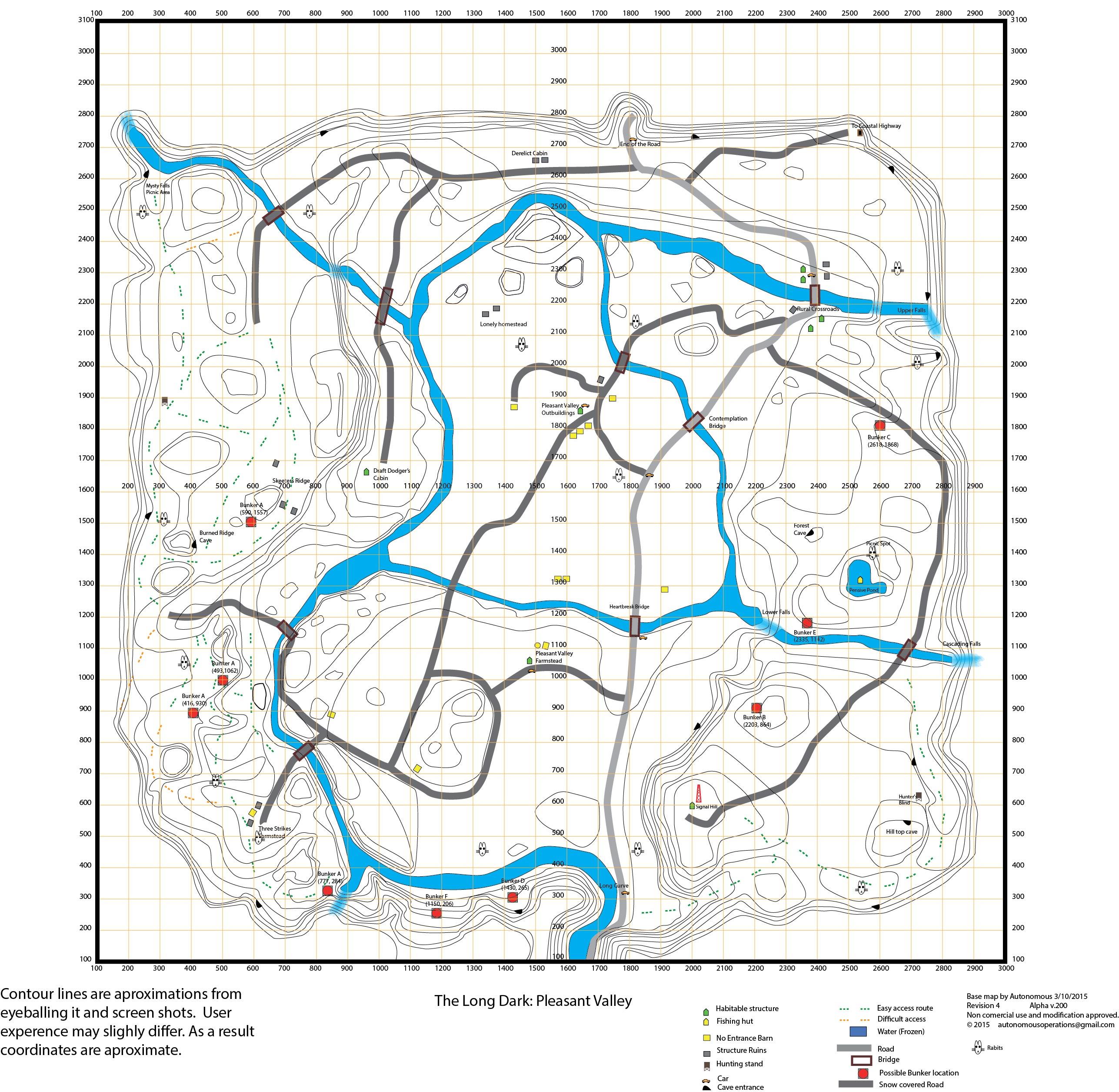Worksheet. Steam Community  Guide  The Long Dark Topo Maps wBunker locations