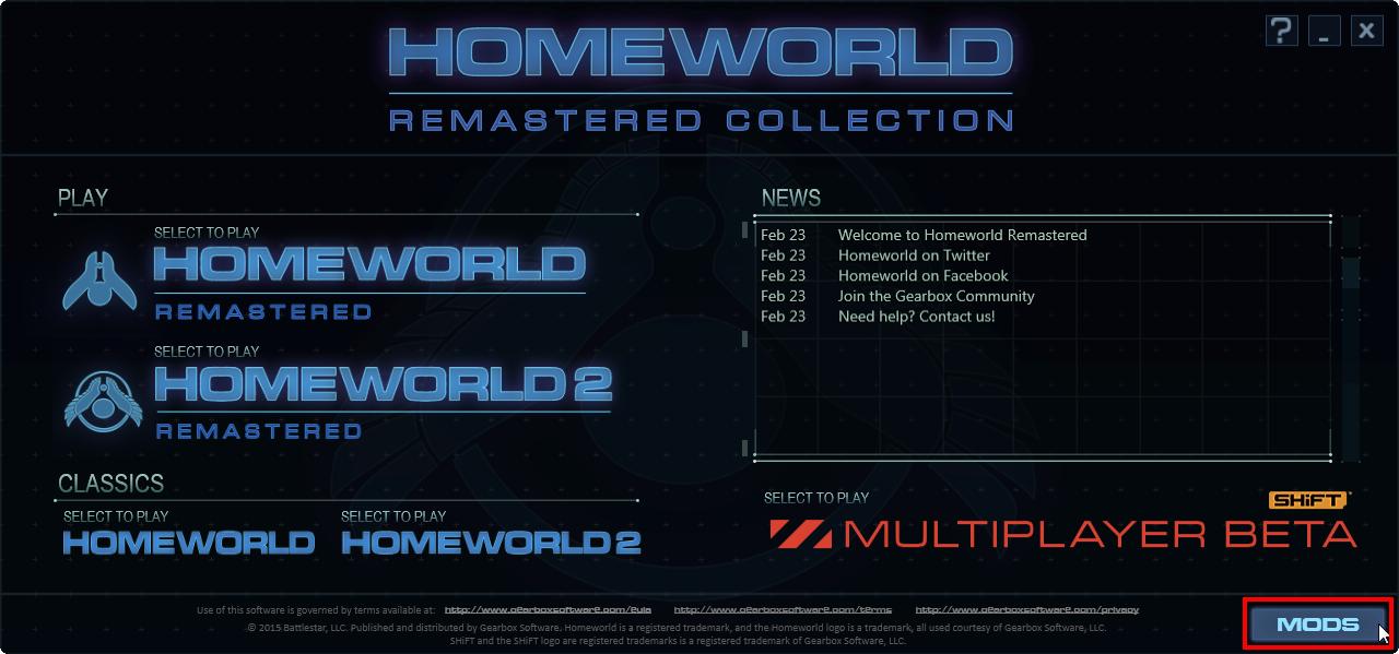 homeworld 2 mod launcher mac