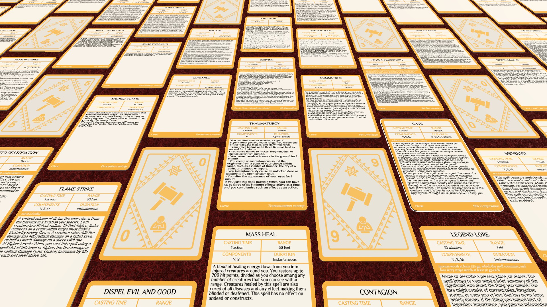 picture regarding 5e Spell Cards Printable known as Steam Workshop :: DD 5E High definition Spell Playing cards (Extensive)