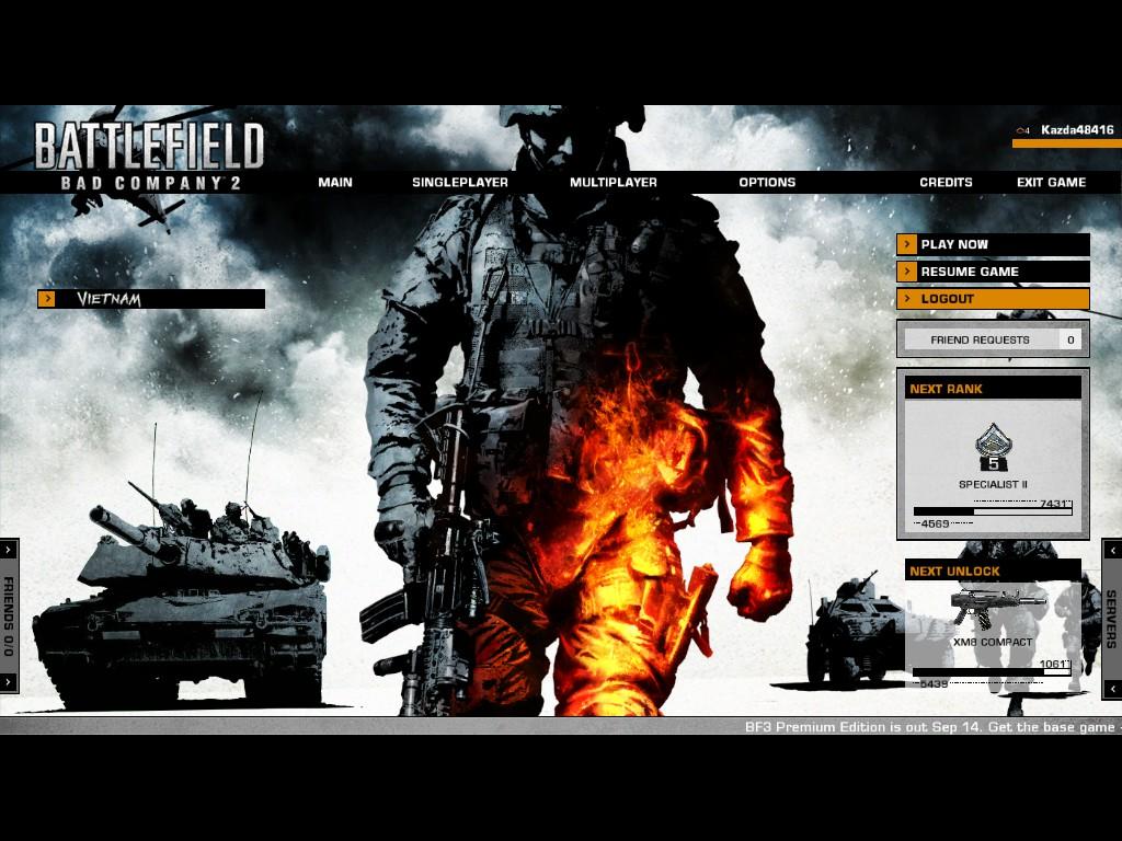 Battlefield bad company 2 stats not updating