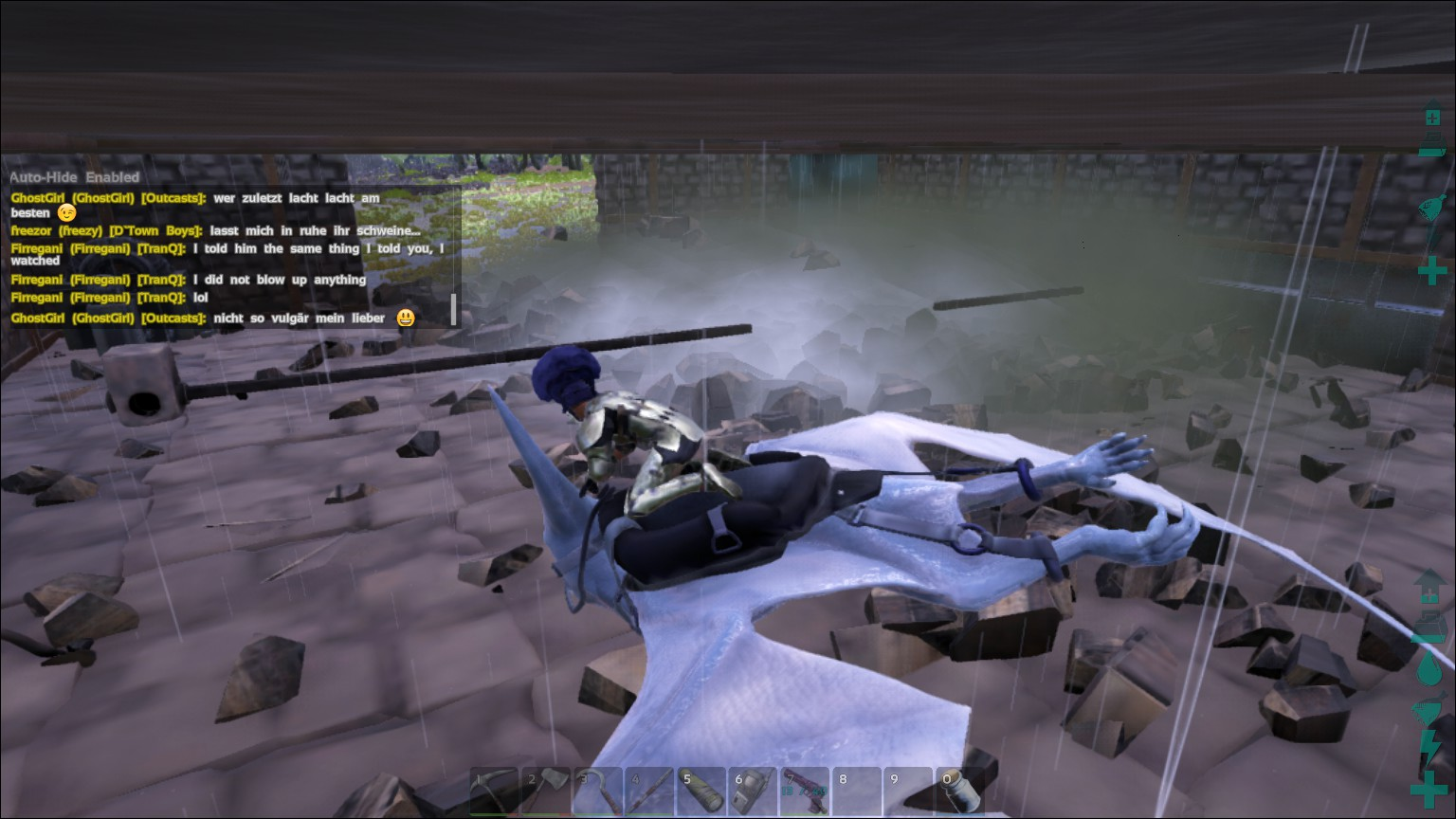 ark how to get dinos to attack structures