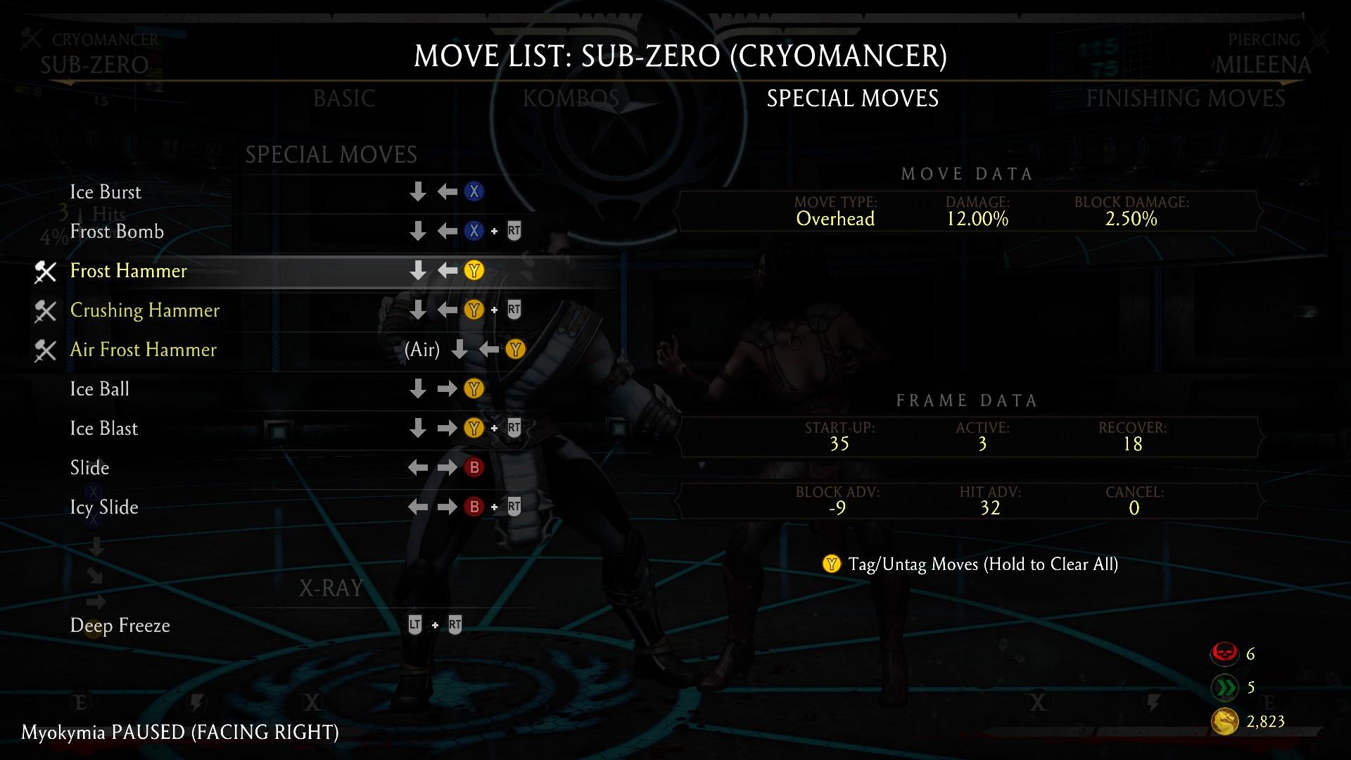 mortal kombat 11 sub zero combos