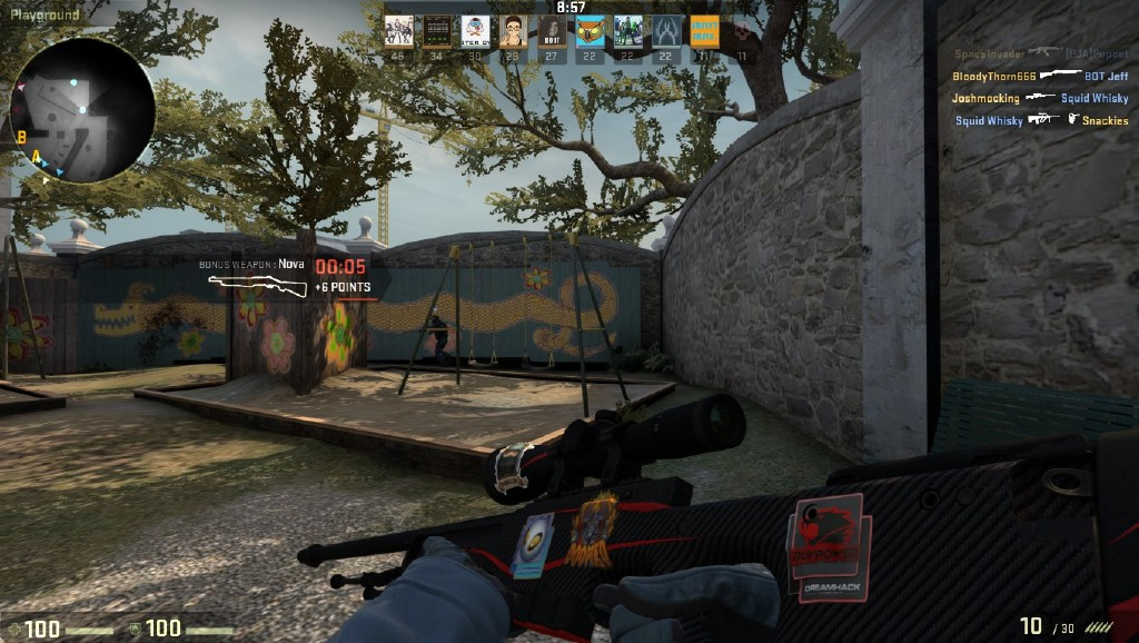 Steam community screenshot awp redline with ibuypower dreamhack 2014 sticker team dignitas holo sticker dinked sticker and doomed sticker