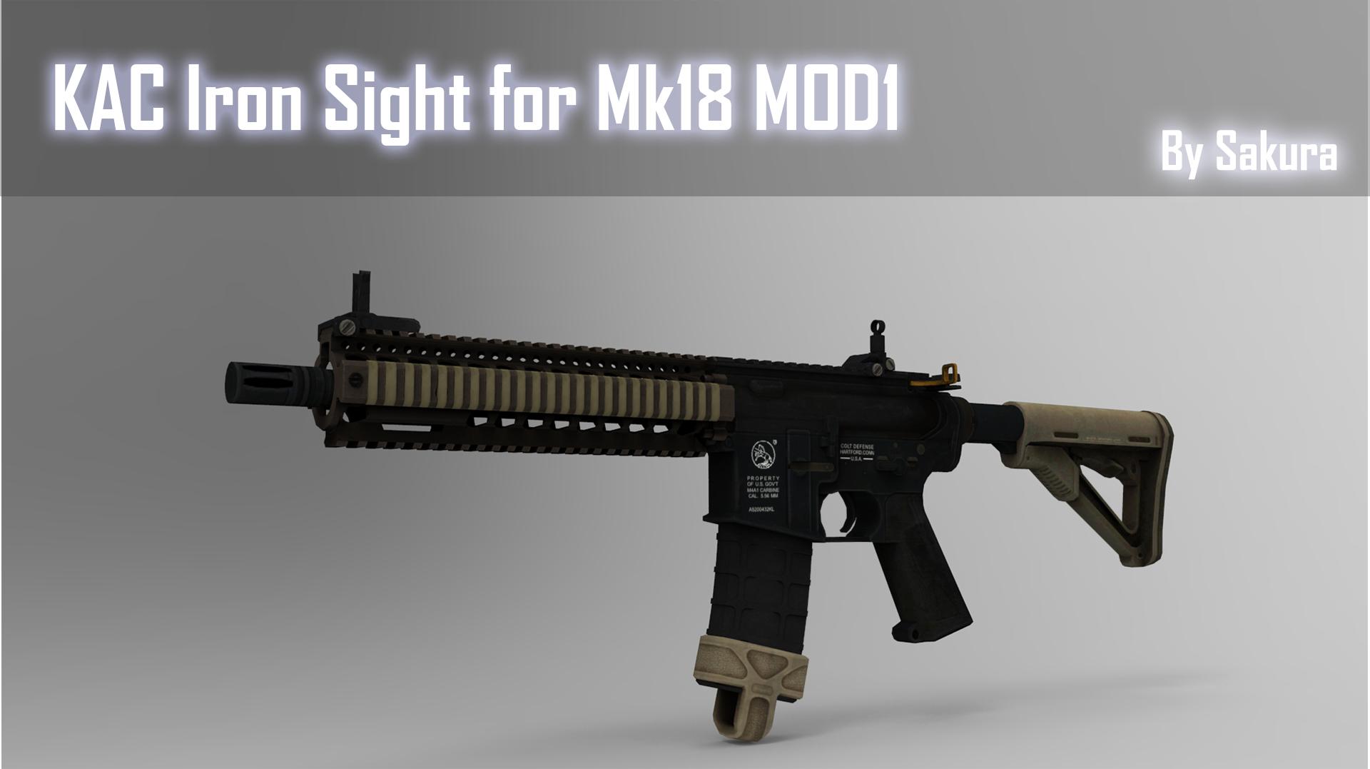 Steam Workshop :: KAC Iron Sight for Mk18 MOD1