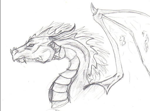 Легкие картинки дракона для срисовки