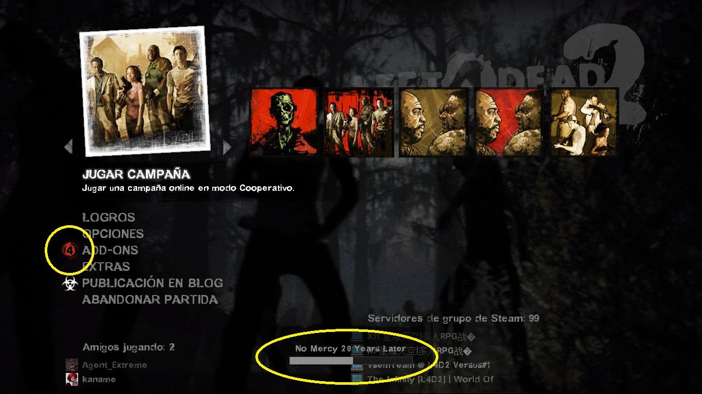 descargar add-on support para left 4 dead 2