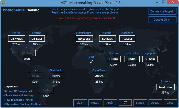 matchmaking Server Picker 4,2 Télécharger