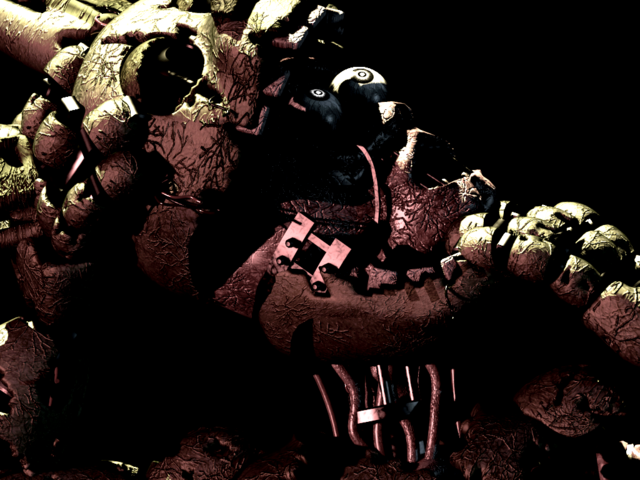 similar to the eyeless screen hallucinations from the second game the player may encounter a picture of springtrap when starting a night there are three