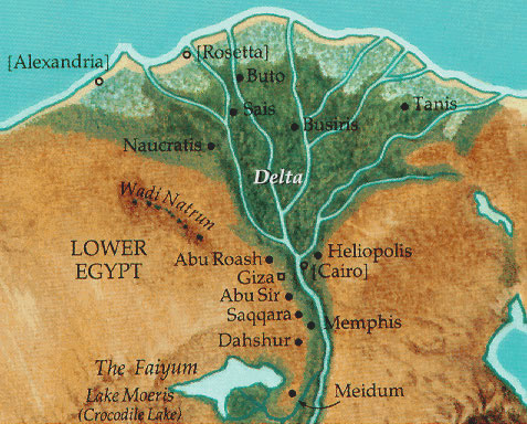 how to draw the nile river