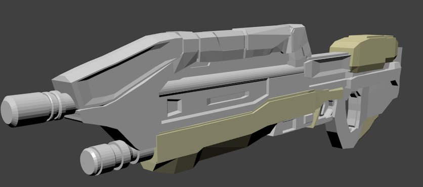 Steam Community :: :: Halo Assault Rifle Lowpoly