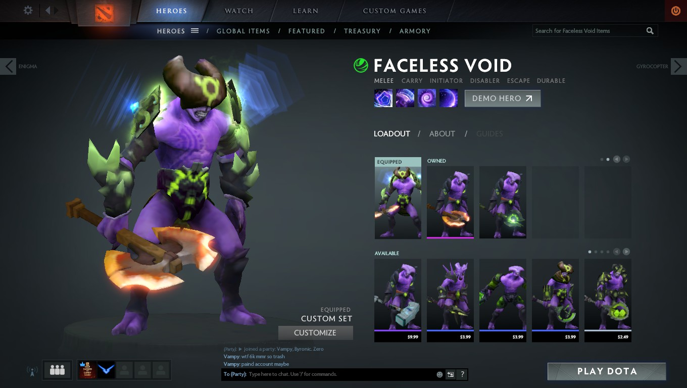steam community screenshot the new hero loadout function of