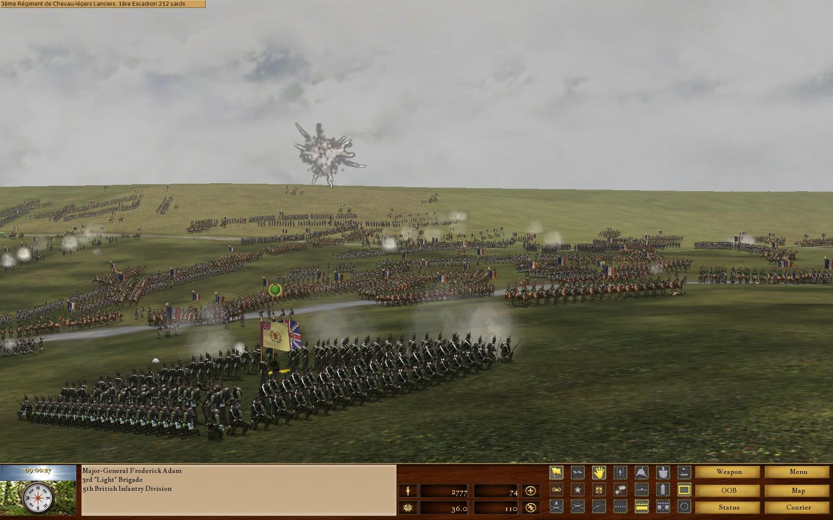 Screenshot of Scourge of War: Waterloo gameplay