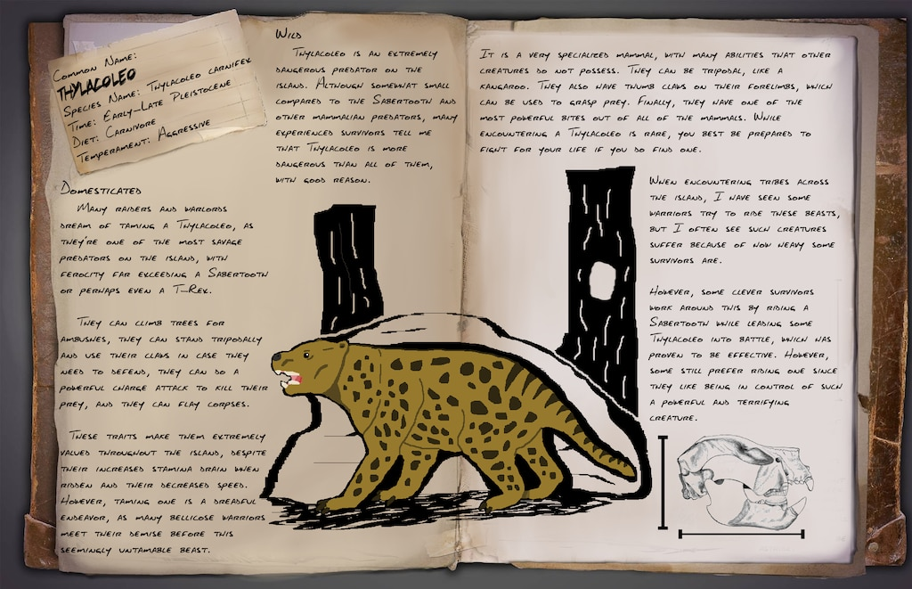 Steam Community Fan Dossier Thylacoleo