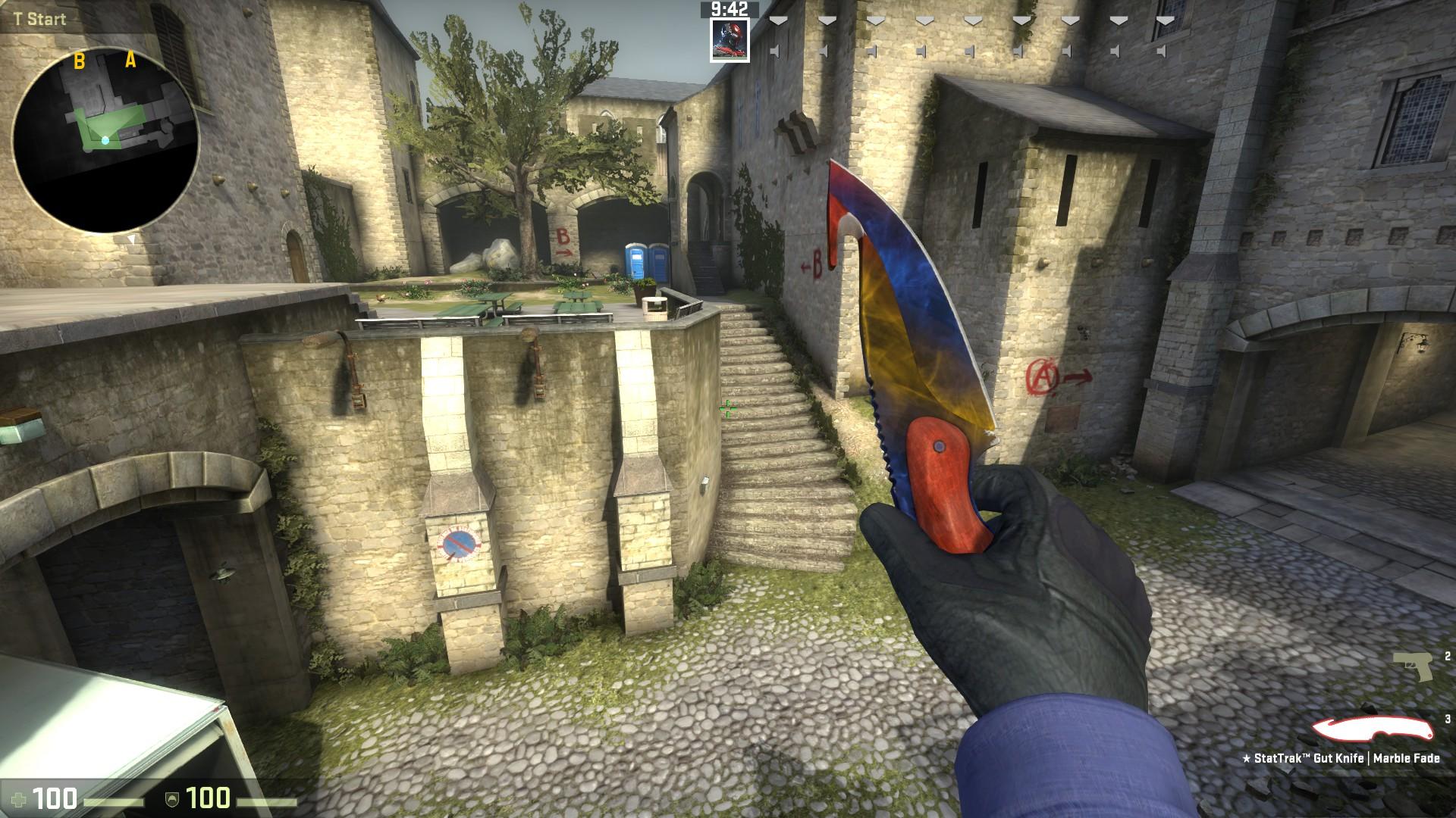 steam community screenshot stattrak gut knife marble