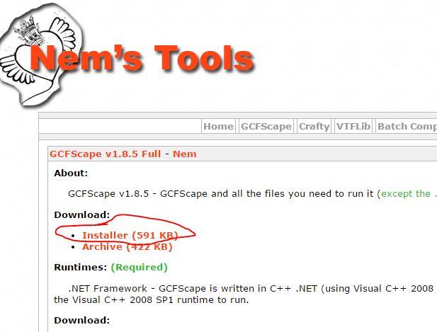 Download gcfscape v1. 8. 5 (freeware) afterdawn: software downloads.
