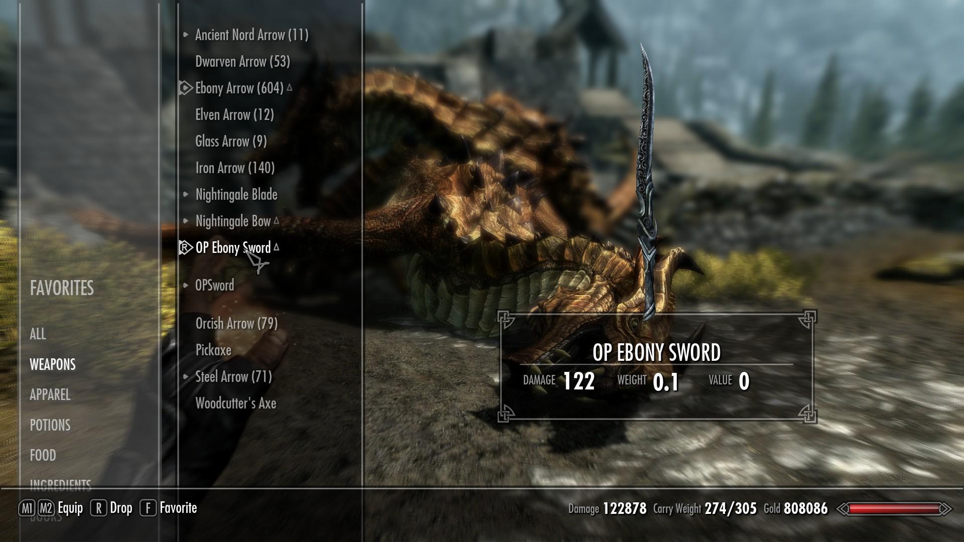 Skyrim ebony sword location