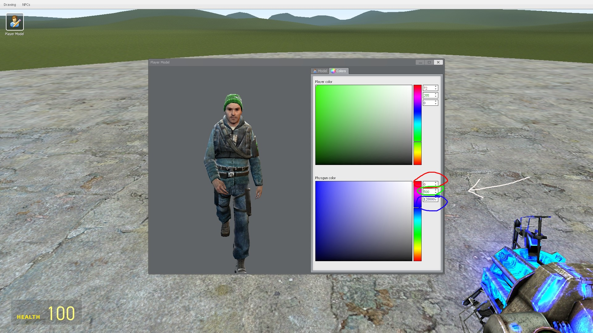 Image Result For Gmod Physgun Color Codes
