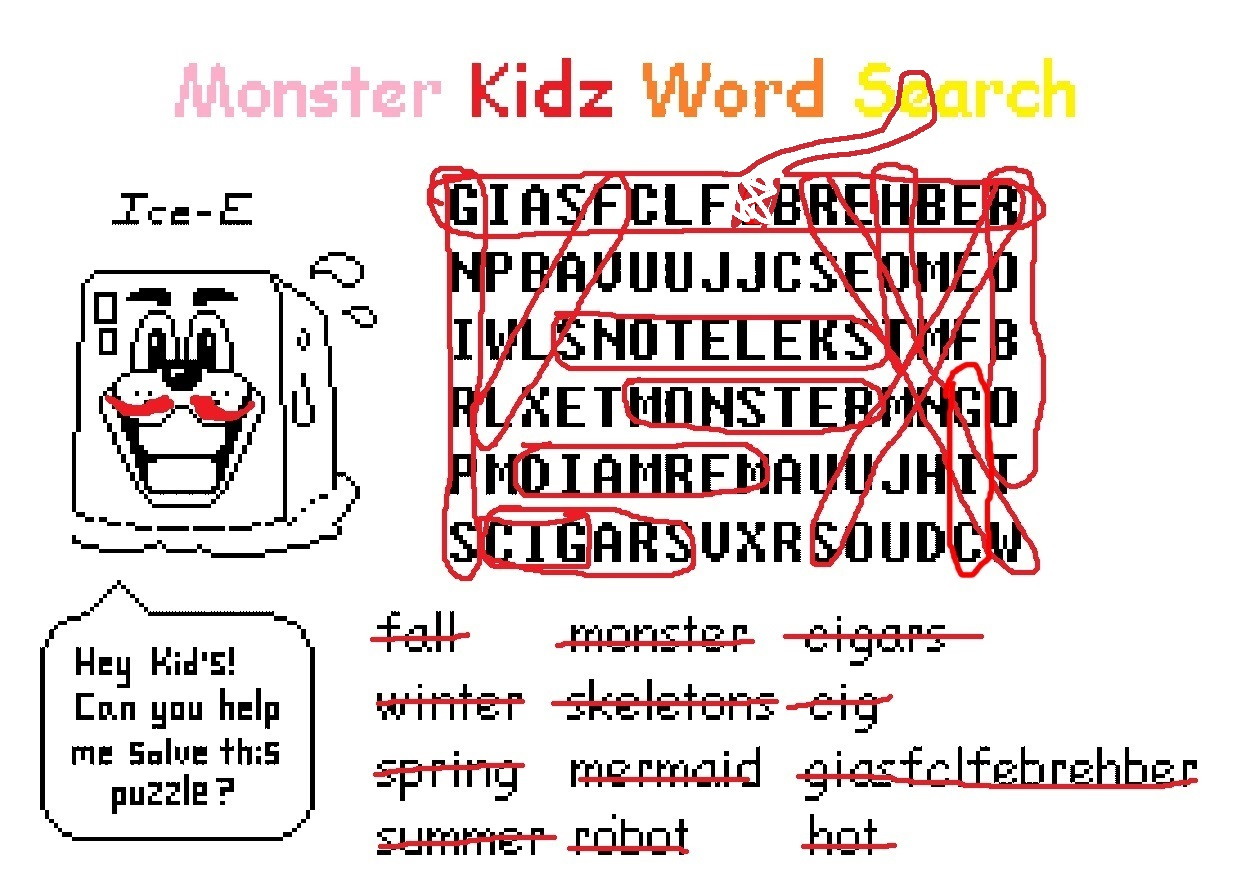 Steam Community Guide How To Beat The Monster Kidz Word Search