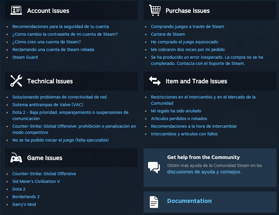 Steam Community :: Guide :: Cómo contactar con Steam Support