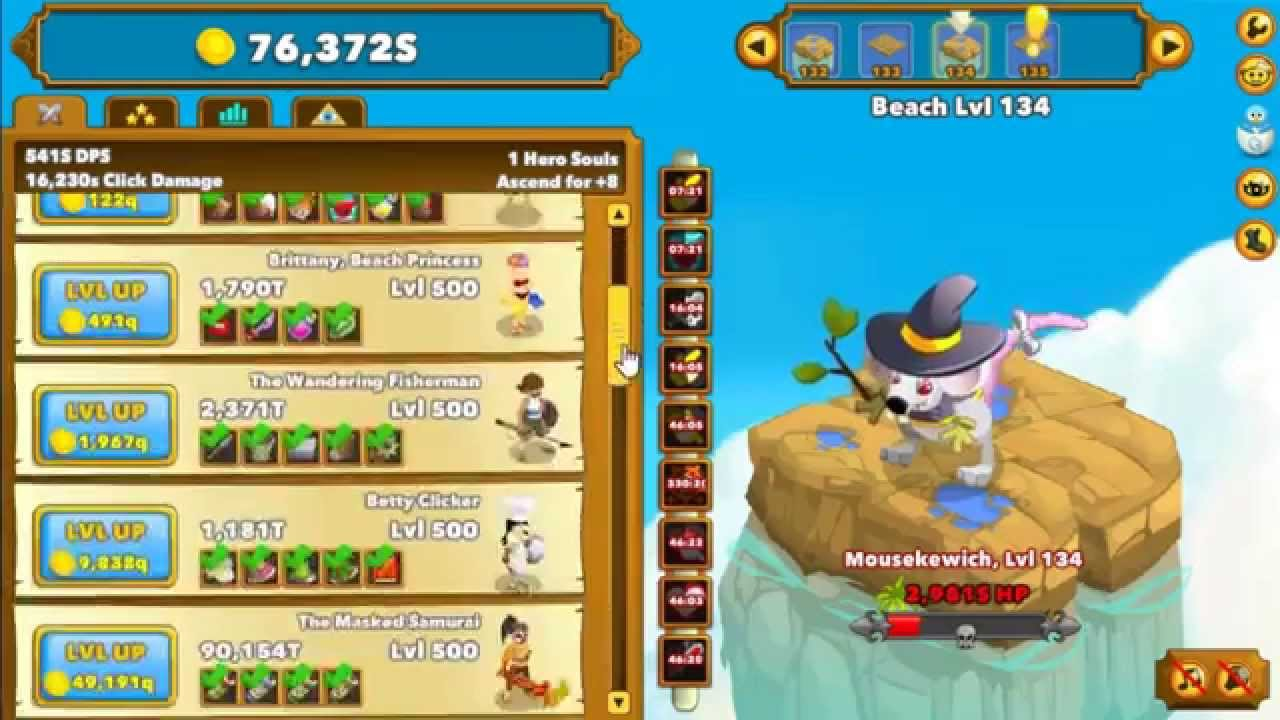 clicker heroes guide idle