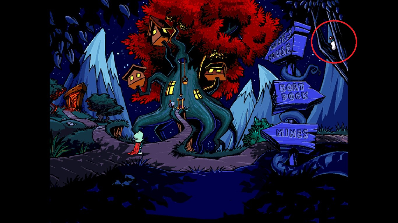 where is the magnet in pajama sam