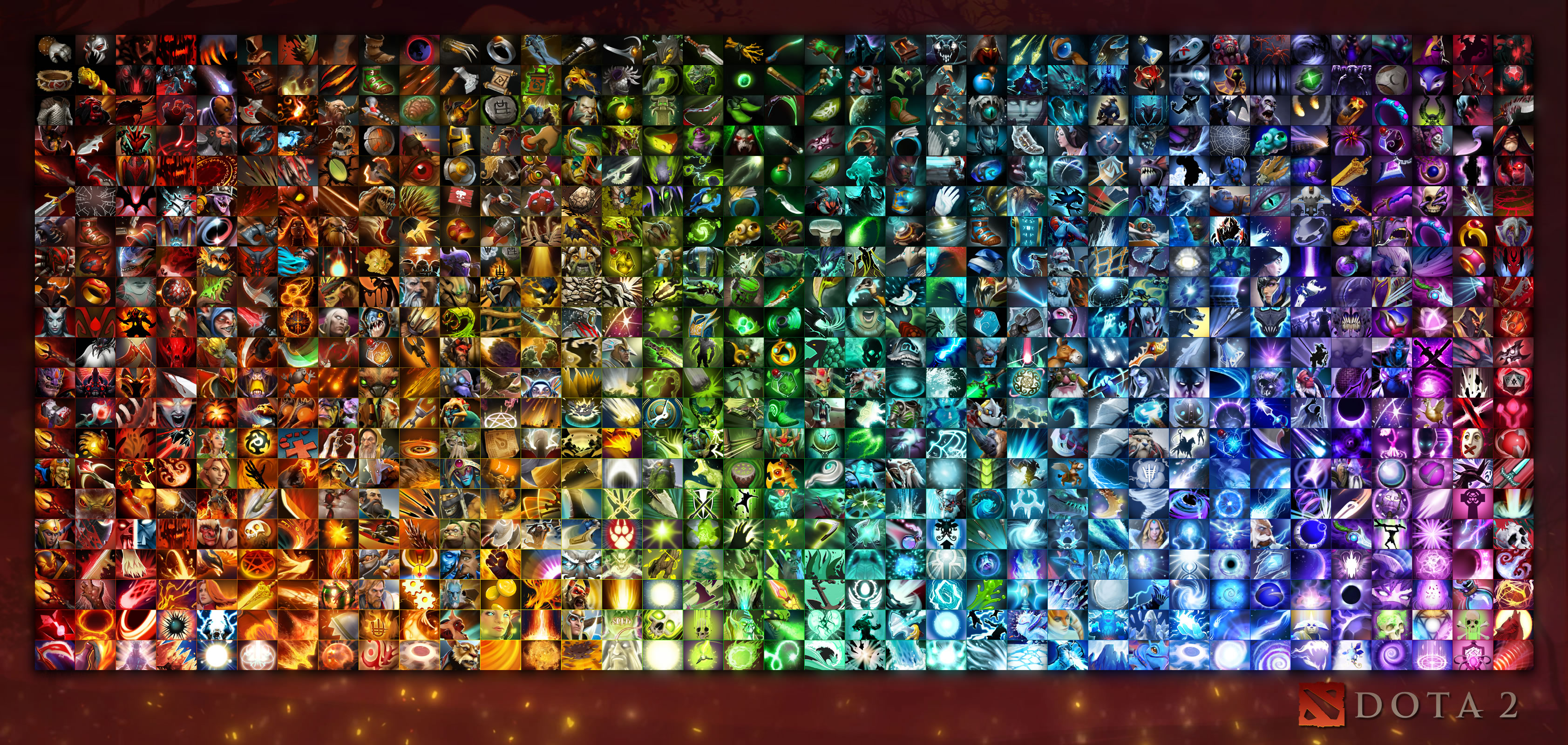 steam workshop gradients of dota poster of all heroes