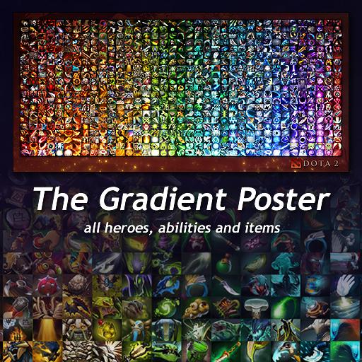 steam workshop gradients of dota poster of all heroes