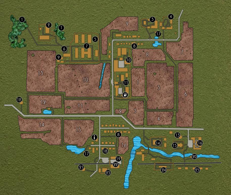 карты на фс 15 область