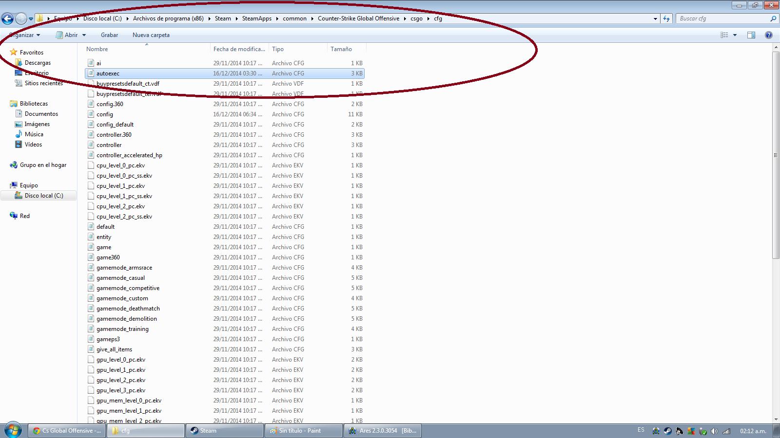 how to open autoexec file in csgo