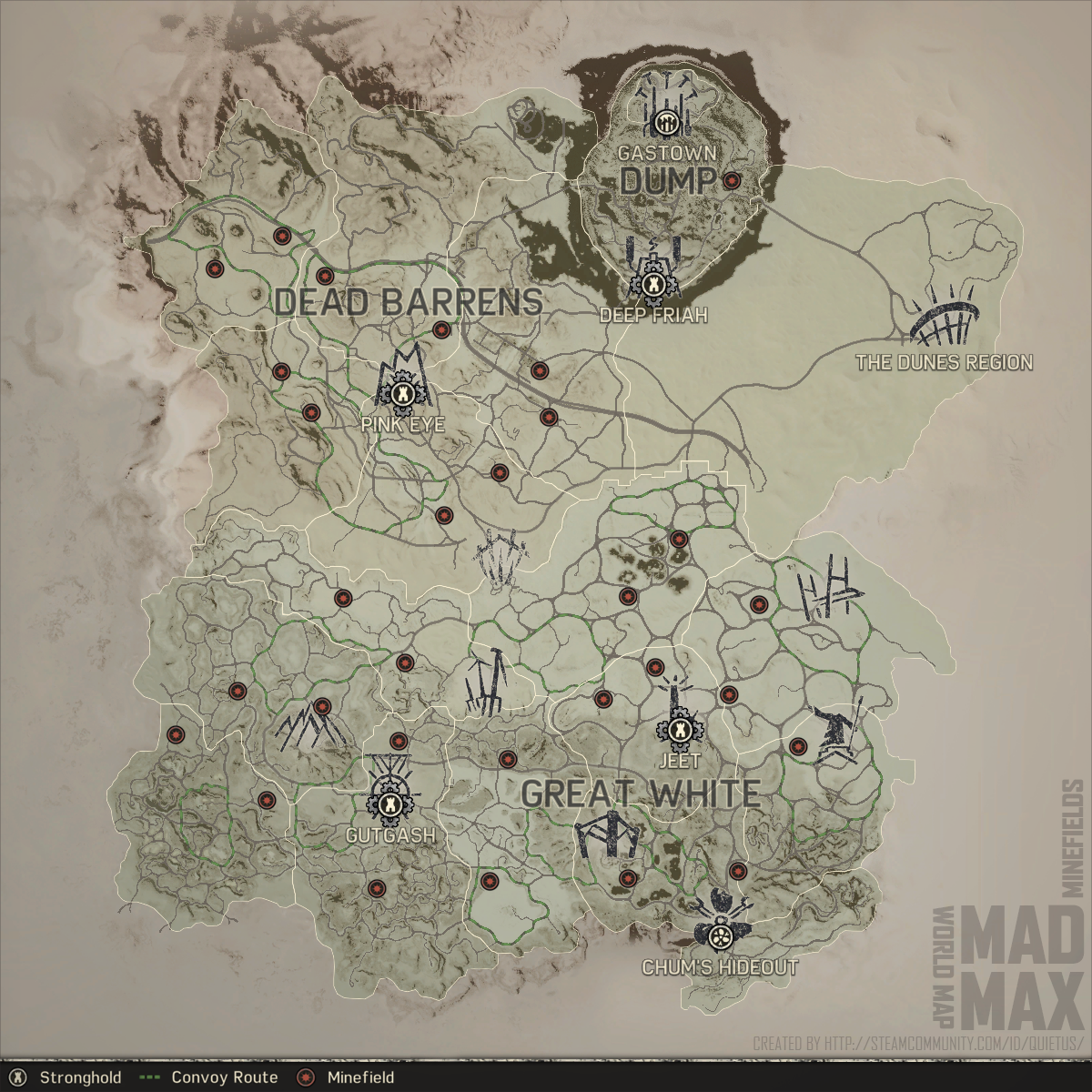 Steam Community Guide World Map Game Guide Locations - Us minefield map