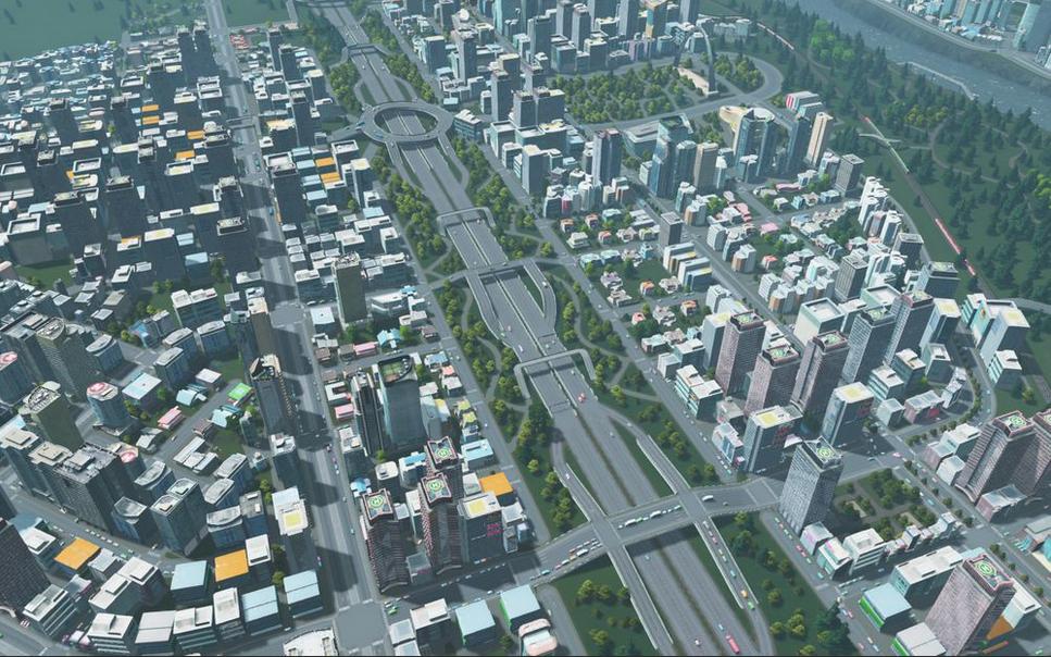 Cities Skylines Car Park