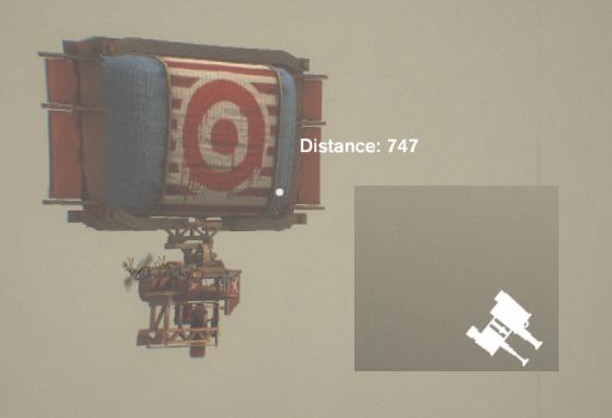 target through the Rangefinder tool