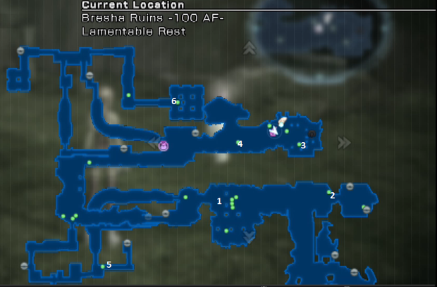 Kill him to receive the Fragment. The 1 on the map indicates the boss location.